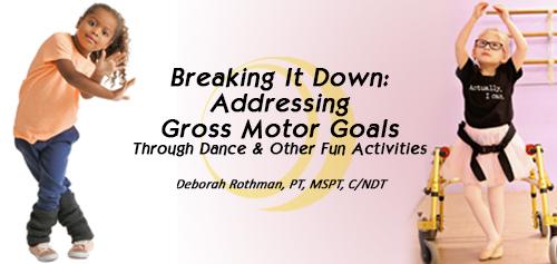 Addressing Gross Motor Goals banner